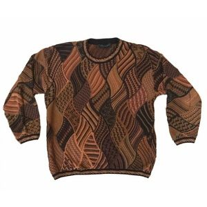 LG Vintage Tundra Coogi like Sweater
